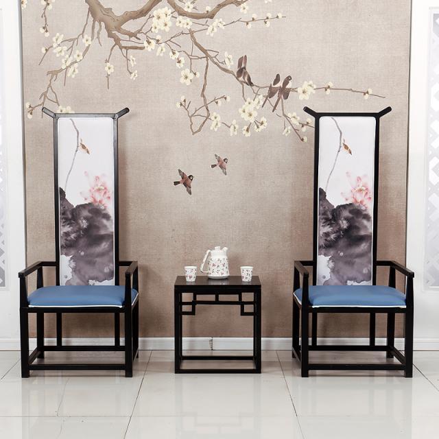 中式铁艺桌椅餐厅包厢家用酒店桌椅