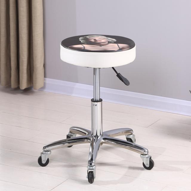简约吧台椅美容美发圆凳子现代酒吧椅升降家用椅高脚凳旋转网红凳