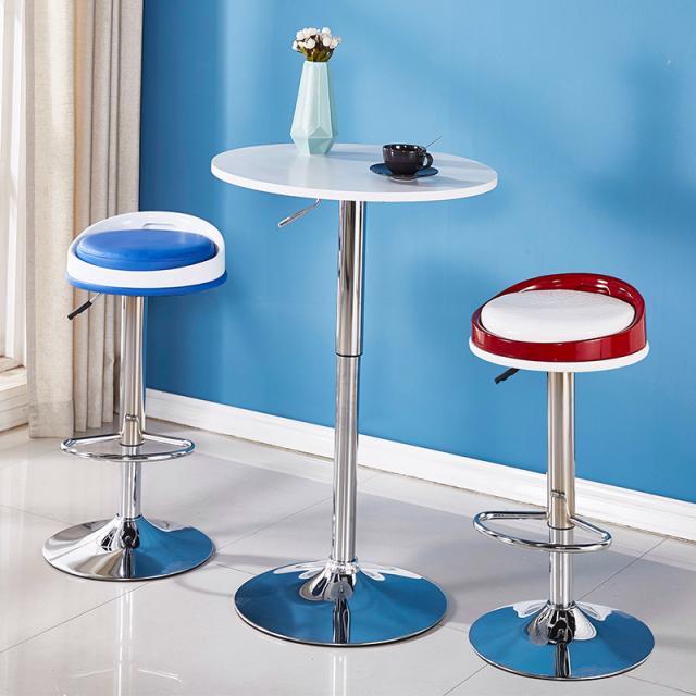 吧台椅升降旋转酒吧椅北欧式前台收银高脚凳现代简约家用休闲圆凳