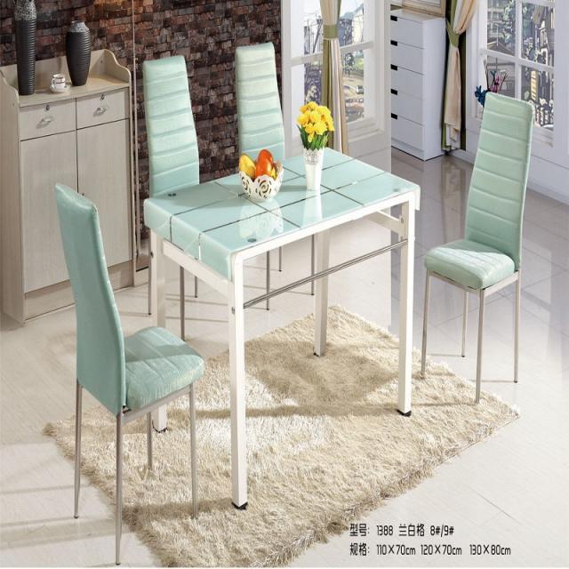 简约餐桌椅组合4人6人家用长方形钢化玻璃餐桌小户型烤漆餐台