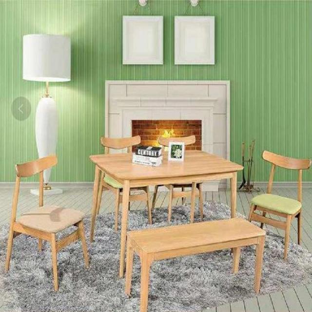 北欧实木餐桌 日式餐桌椅组合 橡木1.3米饭桌 长方形小户型桌子
